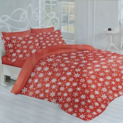 Lenjerie de pat bumbac Winter Stars RED