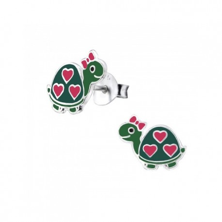 Cercei din argint 925 pentru copii, model Turtle Broscute