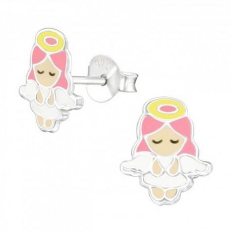 Cercei din argint 925 pentru copii, model Ingerasi
