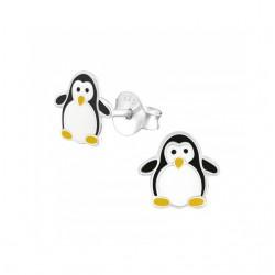 Cercei din argint 925 pentru copii, model Pinguin