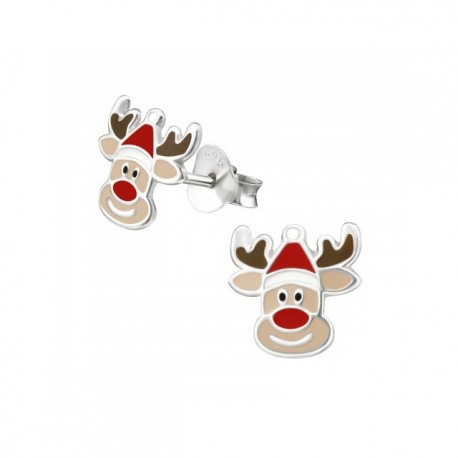 Cercei din argint 925 pentru copii, Reindeer XMAS