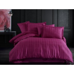 Lenjerie de pat bumbac Ekose Purple