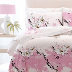 Lenjerie de pat single Romantic Pink