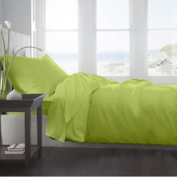 Lenjerie de pat Single Verde Lime