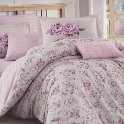 Lenjerie de pat bumbac Purple Flory