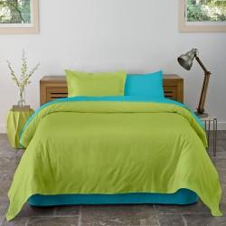 Lenjerie de pat bumbac Lime&Turquoise