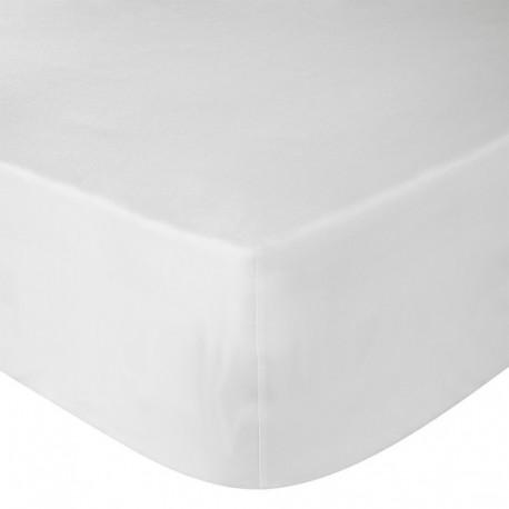 Cearceaf pat cu elastic Alb