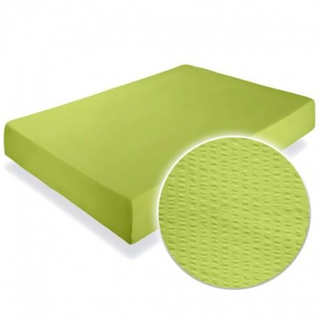 Cearsaf crepe verde-lime cu elastic