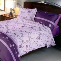 Lenjerie de pat bumbac creponat Purple UNI