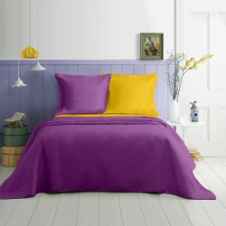 Lenjerie de pat single bumbac Purple Night