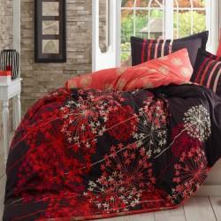 Lenjerie de pat bumbac satinat Fiorella Red