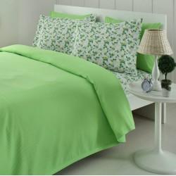 Lenjerie de pat bumbac Fashion Verde Cuv/1P