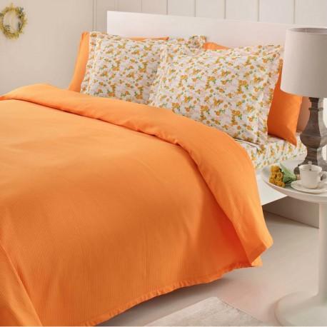 Lenjerie de pat bumbac Fashion Orange Cuv/1P