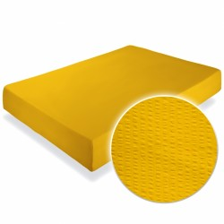 Cearsaf crepe galben cu elastic