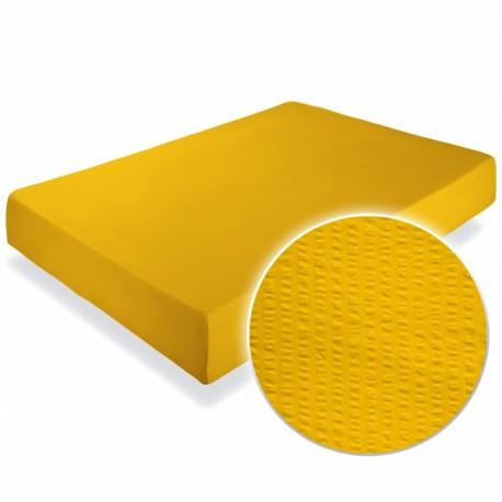 Cearsaf crepe galben 160x200