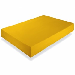 Cearsaf galben cu elastic
