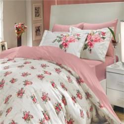 Lenjerie de pat bumbac Pink Rose
