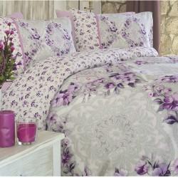 Lenjerie de pat bumbac Provence Liliac