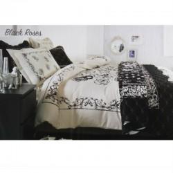 SET Patura & Lenjerie de pat Black Roses