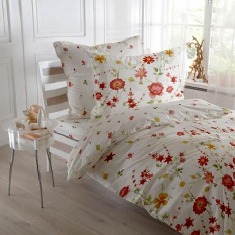 OFERTA 1+1 Red Gardenia, lenjerie pat 2 persoane, bumbac 100%