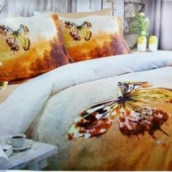Lenjerie de pat bumbac Butterfly Azur