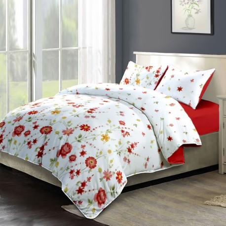 Lenjerie de pat bumbac Gardenia & Red