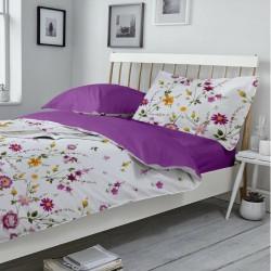 Lenjerie de pat bumbac Purple Gardenia & Orchide