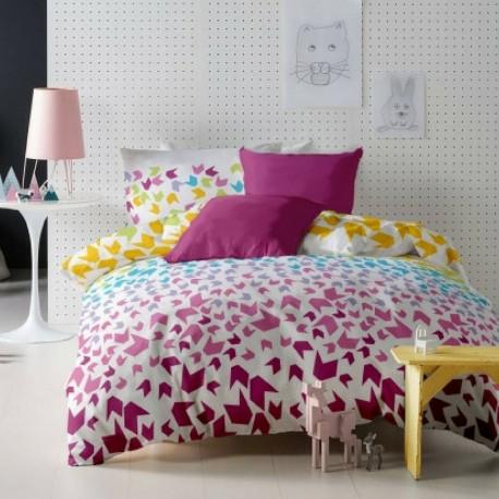Lenjerie de pat bumbac Loving Matisse Pink & Fucsia