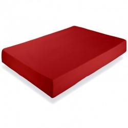 Cearsaf pat rosu cu elastic