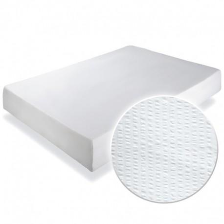 Cearsaf crepe alb cu elastic