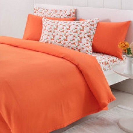 Pled & Lenjerie de pat bumbac Fashion Orange