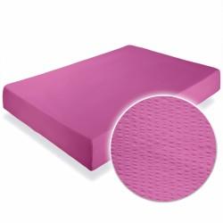 Cearsaf crepe roz cu elastic