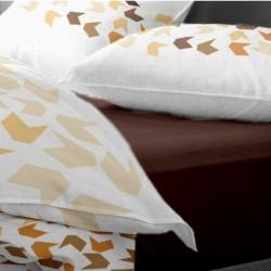 Cearceaf pat cu elastic Maro Inchis